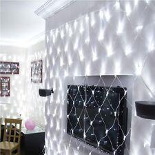 3x2m 9.8ftx6.5ft 204 LED White Net Web Mesh Outdoor Indoor Christmas Fairy Light