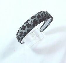 Classic Velvet Leopard Cheetah Animal Print Headband Blue 1 1/4 inch wide