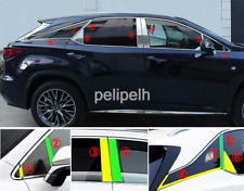 16PC For Lexus RX350 450H 2016-2019 Stainless Door Window Pillar Sill Cover Trim