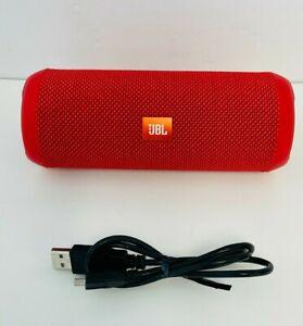 JBL Flip 3 Splashproof Portable Stereo Bluetooth Speaker Red
