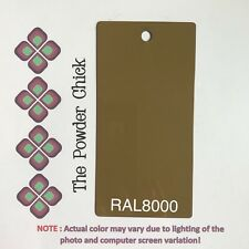 RAL 8000 49/66170 Green Brown Powder Coating Paint 1lb Bag NEW