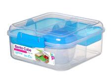 Sistema Bento Cubo 1.25 L, Azul PORCIONES Alimentación saludable escuela de trabajo en el camino