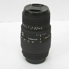 Sigma 70-300mm F4-5.6 Canon DG Macro AF Telephoto Zoom Camera Lens - Untested