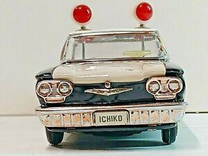 1960 CHEVROLET CORVAIR  POLICE CAR  ICHIKO JAPAN TIN FRICTION