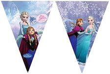 Procos 85438 filare Bandierine Disney Frozen Ice Skating (2.3m) Azzurro Ciao