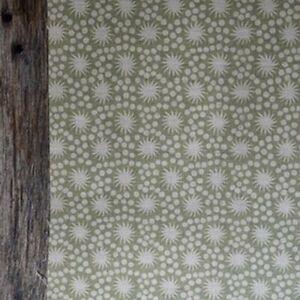 Peony and Sage Sundance Tiny Weathered Green Blotch on Chunky Cream Linen 50cmX4