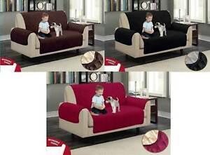 Reversible Sofa Pet Protector Cover Water Repellent Brown, Beige, Burgundy &Grey