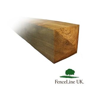 8ft 5 x 5  125mm x 125mm Pressure Treated Gate Post Weather Top Heavy Duty