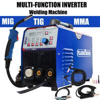 220V MIG TIG ARC Welder Inverter 200A Gasless Lift TIG MIG Stick Welding Machine