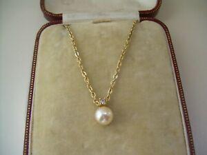 Vintage Christian Dior Pearl Pendant & Chain.