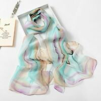Women//Girls Face Scarf Wrap Shawl Silk//Chiffon//Poly Flower Border  $100.00