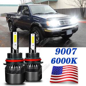 For Nissan Frontier 98-2000 - 9004 HB1 LED Headlight Hi/Low Beam 6000K Bulbs Kit