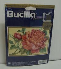 Bucilla 4767 Full Bloom 7 x 5 inch Needlepoint Kit With Large Chart NIP