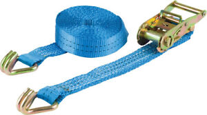 Warrior Ratchet Strap with Claw Hooks 4m x 35mm 3 Tonne 3000kg Rated BDV1703CP