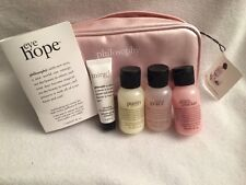 Philosophy 6 PC Set: Eye Hope Cream, Moisturizer, Shower Gels (2), Cleanser, Bag