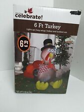 Airblown Inflatable 6 Ft. Turkey And Lights Up gemmy industries
