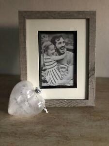 photo Picture frame Grey  Wooden W19.8cm H24.8cm  photo size W10cm H15cm