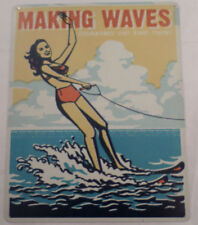 Making Waves Soaking Up The Sun Bar Rec Room Nautical Man Cave Metal Tin Sign