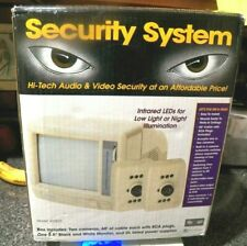 """New Hi - Tech Audio & Video Security System 2 Cameras - 60 Ft. Cord 5.5"""" Monitor"""