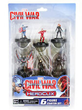 Marvel Heroclix Captain America Civil War Starter Set 6-Figure 2-Maps Dice New