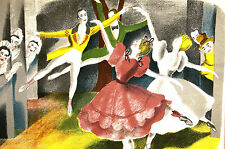 Jackson - BALLET DANCERS - 1945 - COMPANY at the MANOR - Lithograph Print Matted