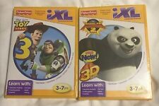 2 Fisher-Price iXL Toy Story 3 And Kung Fu Panda 2 NEW Learning System