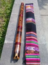 """NATIVE AMERICAN STYLE  FLUTE QUENACHO IN  C (D0) W-CASE   21"""" SEE VIDEO  NEW"""