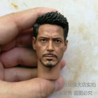 Free Ship 1/6 Scale Civil War Tony Stark Head Sculpt For Hot Toys Figure Body