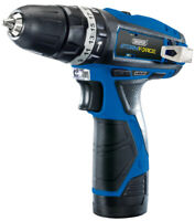 Draper Storm Gewalt 10.8V Kabellos Hammer Bohrer mit Zwei LI-ION Batterien 16048