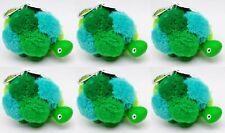 6 Bath & Body Works GREEN TURTLE POM Pocketbac Holder Sanitizer Carry Case Clip