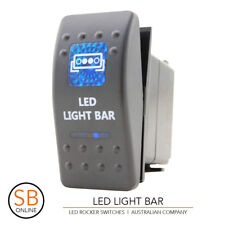 Rocker Switch LED LIGHT BAR - Blue ARB Carling Narva - 4x4 LED Boat Caravan