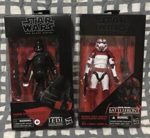 """Star Wars TBS Black Series 6"""" Purge StormTrooper Imperial Shock Trooper Lot New"""