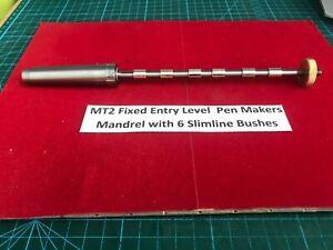 MT2 Special Starter Pen Mandrel with 6 Slimline Bushes & 7mm Drill &tube Rougher