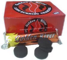 Carbón para Shisha cachimba  Golden River l 33mm. 10 Rollos 100 Carbones.