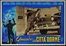FOTOBUSTA, QUANDO LA CITTA' DORME While the City Sleeps FRITZ LANG, NOIR, CAR