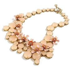 NWT J.Crew Water Lily Shell Pink Blush Collar Necklace with Pouch
