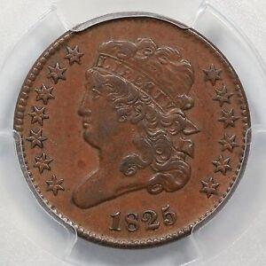 1825 C-2 PCGS AU 55 Classic Head Half Cent Coin 1/2c