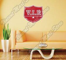 "V.I.P VIP Important Person Grunge Stamp Wall Sticker Room Interior Decor 22"""