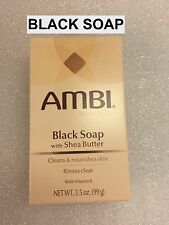 AMBI SKINCARE BLACK SOAP WITH SHEA BUTTER CLEANS & NOURISHES SKIN 3.5 OZ