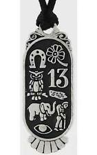 Lucky 8 Pewter Amulet Pendant to Atract Luck!