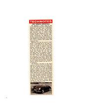 1959 PORSCHE CONVERTIBLE ~ ORIGINAL SMALLER ARTICLE / AD
