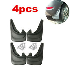 Car Truck Universal Mud Flaps Black Mud Guards Splash Flares 4 Piece Front Rear