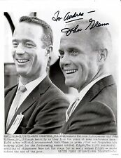 John Glenn signed original 1961 press photo / autograph Malcolm S. Carpenter