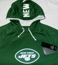 Fanatics New York Jets Men's Pullover Hoodie, NFL Team Apparel, Green, XL