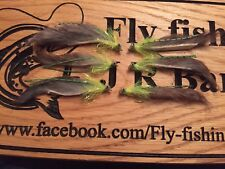 Cats Whisker Zonker Lure 6 Green And Grey Zonker Tail Trout Fly Lure Fly Fishing