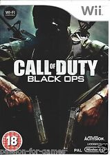 CALL OF DUTY BLACK OPS for Nintendo Wii - PAL