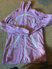 Lululemon Size 6 In Stride Jacket April Wee Are From Space Pink White Double Zip