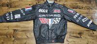 JH Design Black Authentic Camaro Racing Leather Jacket