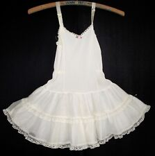 Vintage Girls Her Majesty Ruffle Petticoat Dress Slip