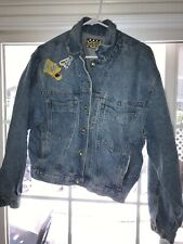 Vtg 1990 Stickshift Denim Bart Simpson Jean Jacket The Simpsons Trucker